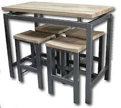 table de cuisine haute avec tabouret ensemble table et chaises table haute avec 4 tabourets d01025