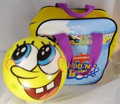 spongebob squarepants brunswick viz a ball bowling ball u0026 bag