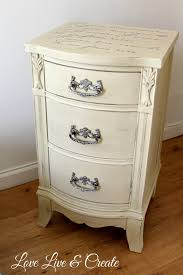Cute Old Furniture Transformed Into Romantic Shabby Chic Nightstand Painted AFTER