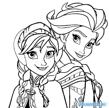 Frozen Elsa And Anna Coloring Pages 1