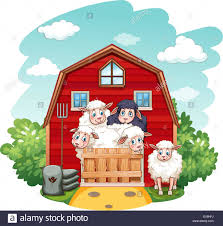 Sheeps In The Barn At Daytime Stock Vector Art & Illustration ... Farm Animals Barn Scene Vector Art Getty Images Cute Owl Stock Image 528706 Farmer Clip Free Red And White Barn Cartoon Background Royalty Cliparts Vectors And Us Acres Is A Baburner Comic For Day Read Strips House On Fire Clipart Panda Photos Animals Cartoon Clipart Clipartingcom Red With Fence Avenue Designs Sunshine Happy Sun Illustrations Creative Market