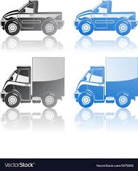 Pickup And Small Truck Royalty Free Vector Image