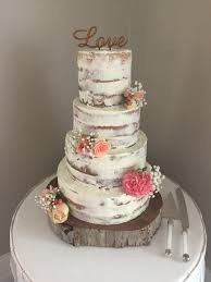 White Chocolate Mud Cake With Ganache Rustic Wedding Fresh Flowers And