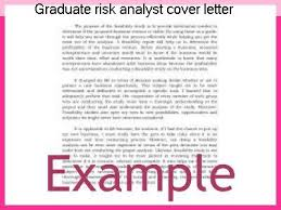 Graduate risk analyst cover letter Research paper Academic Service