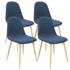 deuba stuhl esszimmerstühle küchenstuhl 4er set bequem gepolstert robuster stoffbezug ergonomisch geformt bodenschoner 120kg belastbar