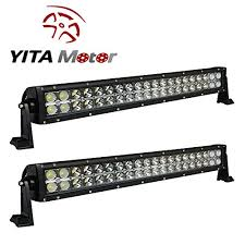 YITAMOTOR 2 X 120W 24″ inch Spot Flood bo LED Light Bar Car 4WD