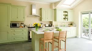 Apple Green Kitchen Cabinet On Rustic Style Ideas
