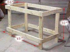 amazing easy roll away diy workbench with built in mitersaw table