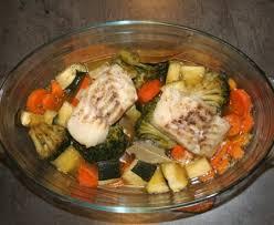 recette cuisine poisson poisson et légumes au four recette de poisson et légumes au four