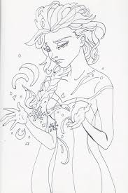 MyThoughtsAreDeep Unofficial Frozen Coloring Book Page Elsa By