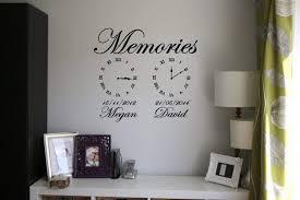 Memories Wall Art Clock Date Of Birth Memory Clocks Decals