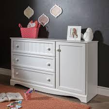 south shore savannah 3 drawer nursery dresser with door pure