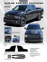BEST! Dodge Ram Vinyl Hood Graphics HEMI HOOD 3M 2009-2018