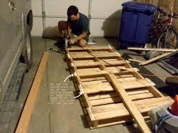 Diy Pallet Bed Directions Pallet Tutorials DIY Twin Pallet Bed
