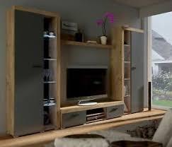 top wohnwand rumba xl anbauwand wohnkombi wohnzimmer grau