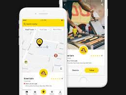 100 Food Truck App Map Details By Luka Mlakar Dribbble Dribbble