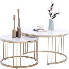 ynn tisch satztische 2er set beistelltisch runder couchtisch marmor snack telefon beistelltisch wohnzimmer schlafzimmer