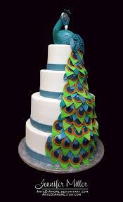 Peacock Wedding Cake by ArteDiAmore on DeviantArt