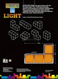 Tetris Stackable Led Desk Light by Tetris Diy Led Desk Lamp