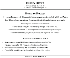 Summary For Resume Marketing Statement Example Awesome Examples