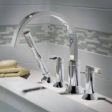 Williamsburg Pedestal Sink Home Depot by Berwick Deck Mount Bathtub Faucet With Lever Handles American