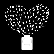 coeur de en pot la vie de coeur de pharmacie de pot de médecine de pilules
