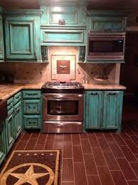 Dream Kitchens Turquoise CabinetsTeal