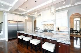 L Shaped Kitchen Islands Traditional With Large Island And Gray Marble