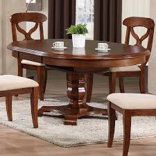 Sunset Trading Andrews Chestnut Wood Extending Dining Table