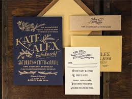 Rustic Elegant Letterpress Gold Foil Wedding Invitations Ladyfingers