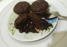 langkah mudah untuk menyiapkan choco lava cake kukus tanpa