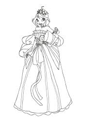 Winx Club Wear Dress Interesting Coloring Pages