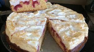 himbeer marzipan baiser torte