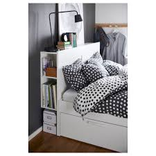 BRIMNES Bed frame with storage & headboard Queen Luröy IKEA