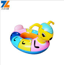 Tracking Inflatable Animal Sitting Ring Children PVC Life Buoy Swim Rings Kids Cute Seat
