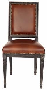 retro vintage holzstuhl küchenstuhl esszimmerstuhl leder stuhl eiche klassischer rindsleder vollleder holzstuhl massivholz eiche französisch