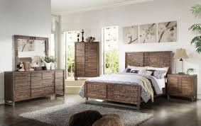 Platform Bedroom Set by 4pc Andria Platform Bedroom Set In Reclaimed Oak