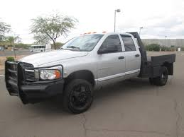 USED 2004 DODGE RAM 3500 FLATBED TRUCK FOR SALE IN AZ #2308