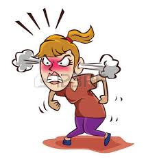 Anger clipart angry woman Pencil and in color anger clipart