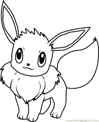 Eevee Coloring Pages Pokemon Page Free Pokmon