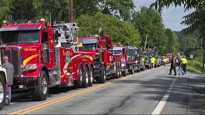 Procession Of Tow Trucks For Driver's Funeral | WNEP.com King Donald Trumpsupporting Tow Truck Driver Says God Told Him To The President And The Tow Truck Driver Drivers Get Plenty Of Time On Nburgring Too Bad Towtruck Drivers Pay Homage Comrade Killed In Bridge Hitandrun Virginia Fatally Shot While Repoessing Car Funeral Procession For Popular Job Be Held Julian Harrison Fotos Dies Miami Blvd Wreck I Dont Need A Flatbed Justrolledintotheshop Worst Ever Youtube