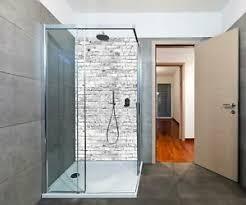 duschrückwand klinkersteine grau duschwand design keine