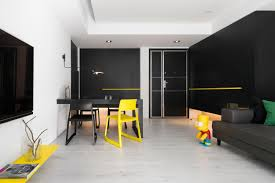 100 Axis Design ZAXIS DESIGN Creates A Stylish ContrastStrong Apartment In Taiwan
