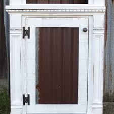 Rustic Empire 4 Pc Wall Unit W Rusty Tin Door Panels