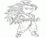 Dragon Ball Z Gotenks Coloring Page