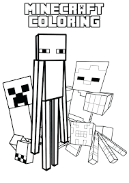 Minecraft Steve Coloring Sheets Color Pages Printable Home