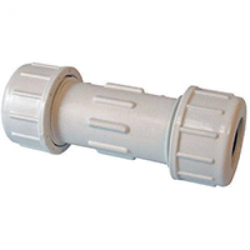 "American Valve PVC Compression Coupling - 2-1/2"", SCH 40"