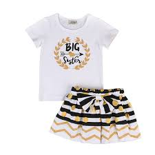 Amazon.com: Kidsa 0-2T Little Sister & 2-7T Big Sister Newborn ...