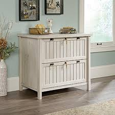 Sauder Harbor View Dresser Antiqued White Finish by Sauder Costa Chalked Chestnut Lateral File 420040 The Home Depot