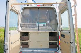 Rear Door Bug Screen In Peters Sprinter Conversion